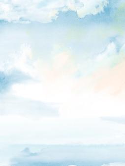 Heldere kleuren met blauw aquarel verloop