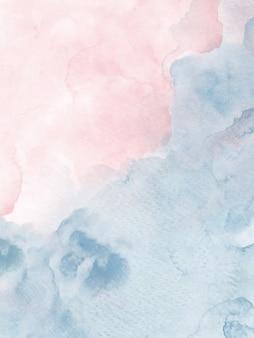 Heldere kleuren met roze en grijze waterverfverlopen