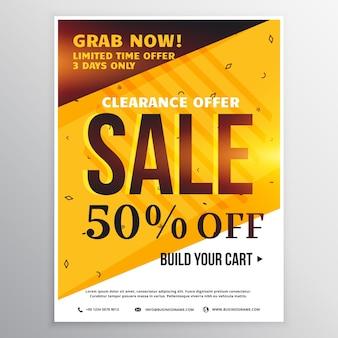 Heldere kleuren verkoop banner poster ontwerp sjabloon met aanbod informatie