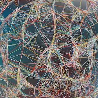 Heldere kleurrijke abstracte tech achtergrond. bestand opgenomen