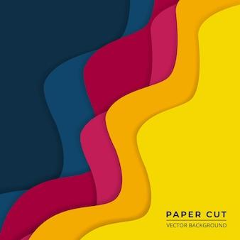 Heldere kleurrijke papier gesneden abstracte achtergrond