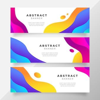 Heldere kleurrijke verloop banner met vloeibare vormen
