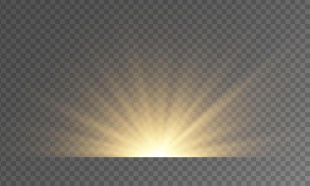 Heldere lichtstralen.