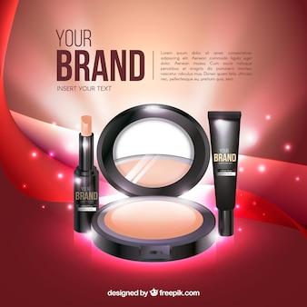 Heldere make-up achtergrond