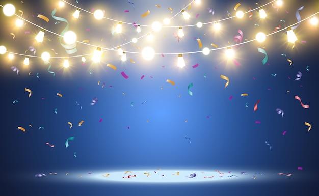 Heldere mooie lichten ontwerpelementen gloeiende lichten voor ontwerp