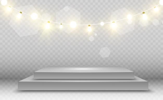 Heldere, mooie lichten, ontwerpelementen. gloeiende lichten
