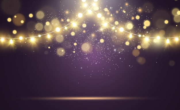 Heldere mooie lichten ontwerpen elementen gloeiende lichten
