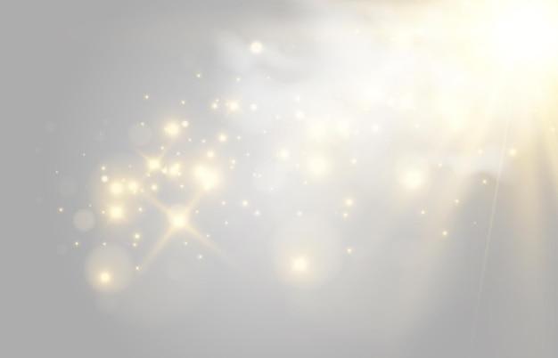 Heldere mooie ster vectorillustratie van een lichteffect op een transparante achtergrond Premium Vector