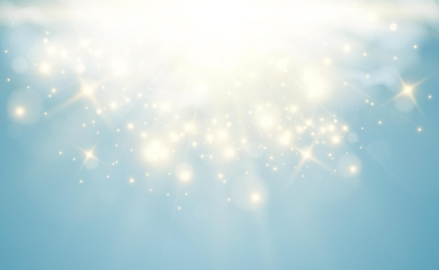 Heldere mooie sterillustratie van een lichteffect op transparant