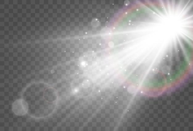 Heldere mooie sterillustratie van een lichteffect