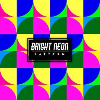 Heldere neon kleurrijke vormen naadloze patroon achtergrond