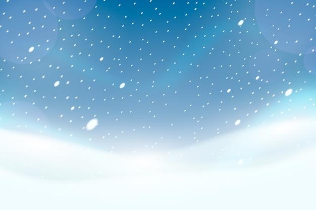 Heldere realistische sneeuwval screensaver