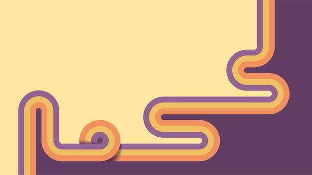 Heldere retro achtergrond met kleurrijke streep door