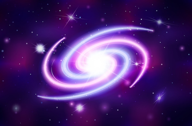 Heldere spiraal galactisch