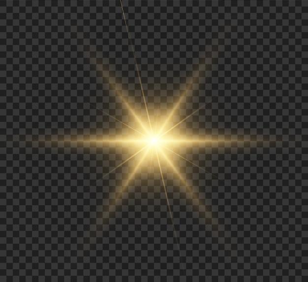 Heldere ster, lichteffect.