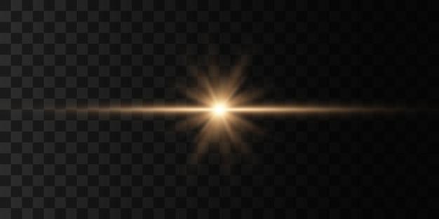 Heldere ster, schittert transparante stralende zon