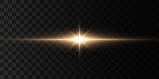 Heldere ster, stralende zon, lichteffect