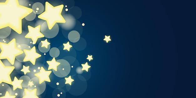Heldere sterren gloeiende zoete lichtontwerpbanner