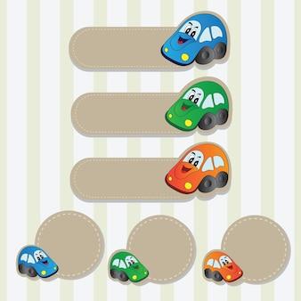Heldere vectorillustratie - set met auto's voor uw ontwerp
