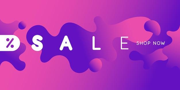 Heldere verkoopposter met dynamische spatten vectorillustratie in minimalistische stijl
