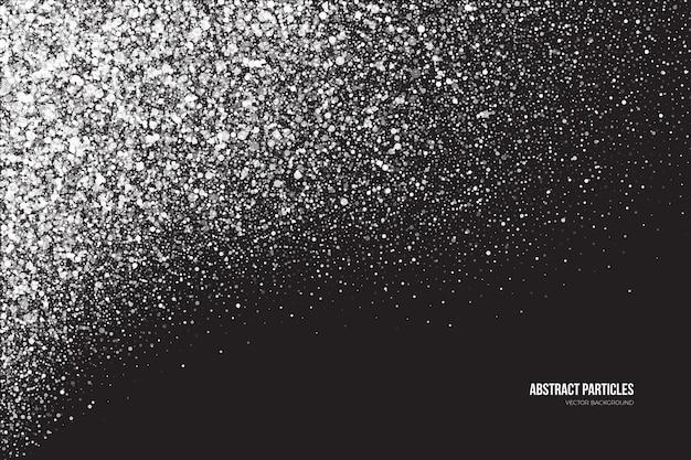 Heldere witte shimmer gloeiende ronde deeltjes sneeuwval effect abstracte achtergrond