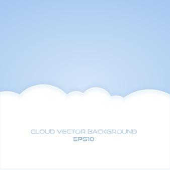 Heldere wolk achtergrond met tekst ruimte illustratie