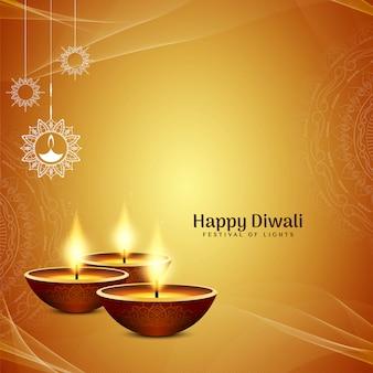 Heldergeel religieus happy diwali