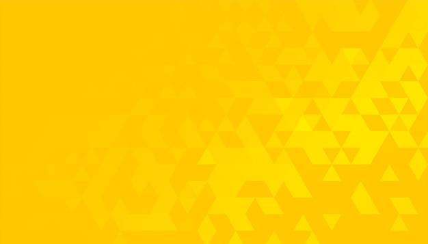 Heldergele achtergrond met driehoekig patroon