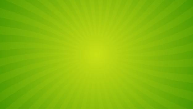 Heldergroene spiraalvormige stralenachtergrond.