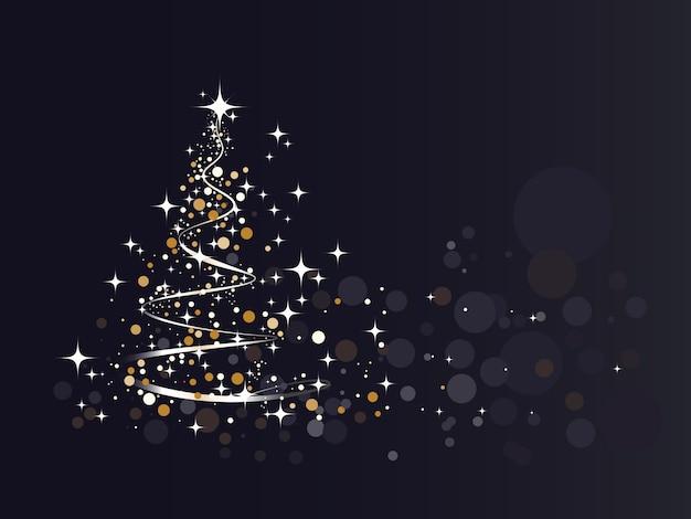 Helderheid kerstboom achtergrond