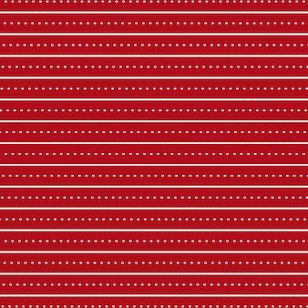 Helderrode achtergrond met horizontale lijnen en stippen als naadloos patroon
