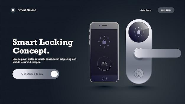 Heldschot met futuristische verbonden deurknop