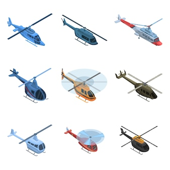 Helikopter pictogramserie