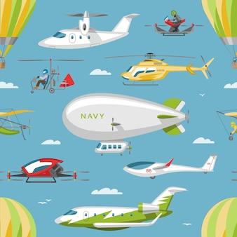 Helikopter vector copter vliegtuigen of rotor vliegtuig en helikopter jet vlucht vervoer