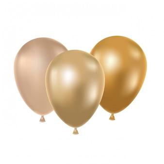 Helium ballonnen op wit