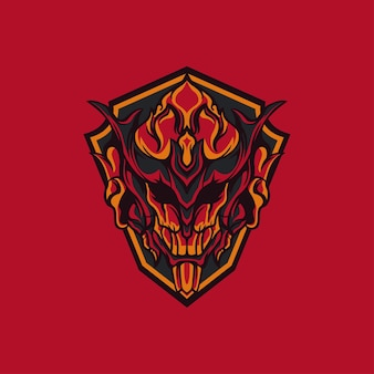 Hell fire voor mascotte, logo of andere
