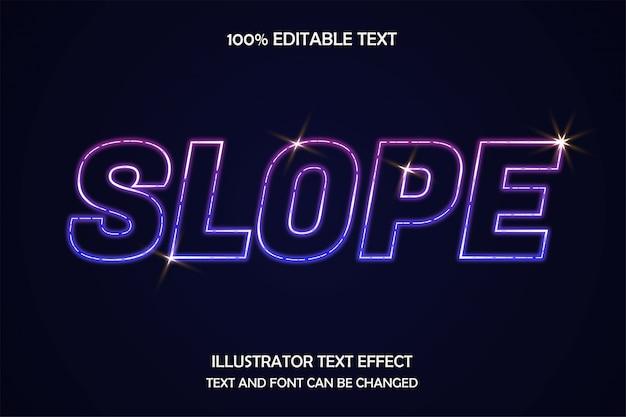 Helling, bewerkbare teksteffect neonstijl