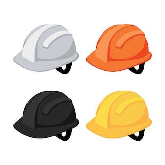 Helm collectie ontwerp Premium Vector