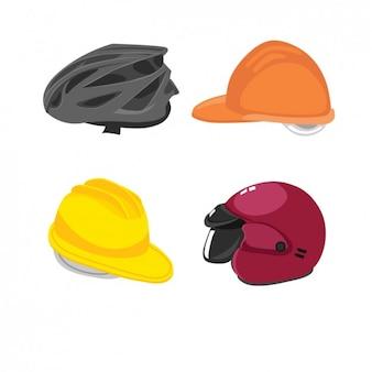 Helmen voor fietsers, motorrijders en arbeiders