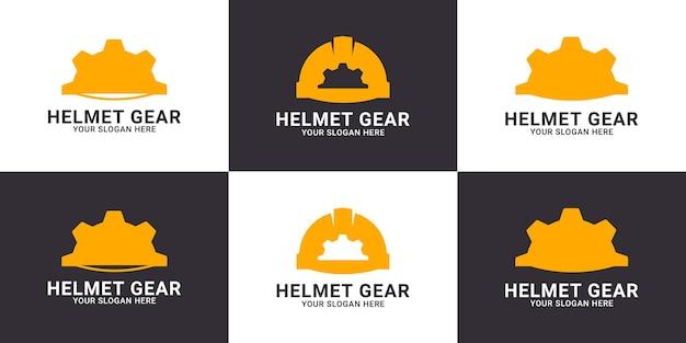 Helmuitrusting inspiratie logo voor veiligheidsmedewerker