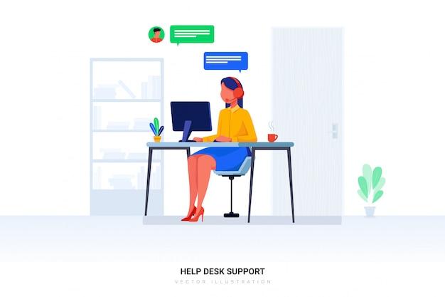 Helpdesk ondersteuning illustratie