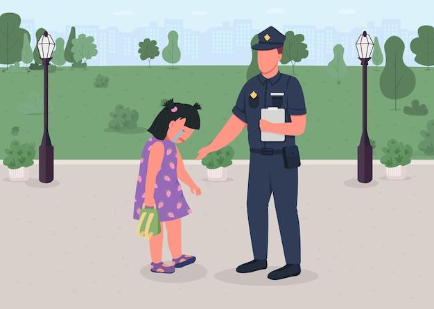 Helpen kinderen egale kleur illustratie