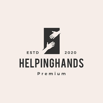Helpende hand vintage logo