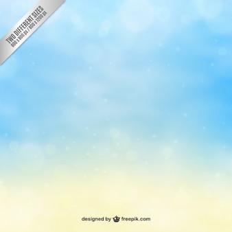 Hemel achtergrond in blauwe en gele tinten