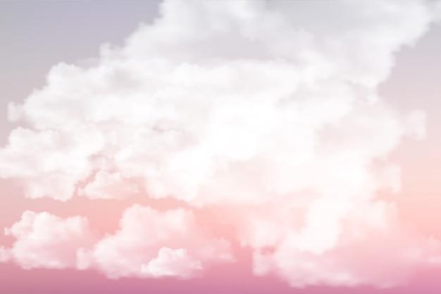 Hemel met wolken met zachte gekleurde achtergrond