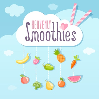Hemels smoothie logo concept.