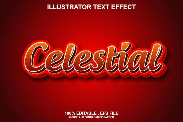 Hemels teksteffect bewerkbaar
