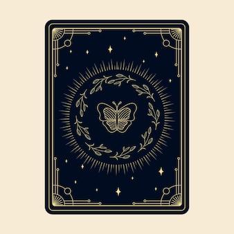 Hemelse magische tarotkaarten esoterische occulte spirituele lezer hekserij magische kristallen handen oog