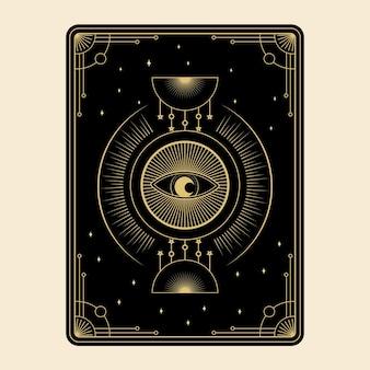 Hemelse magische tarotkaarten set esoterische occulte spirituele lezer hekserij magisch oog van god