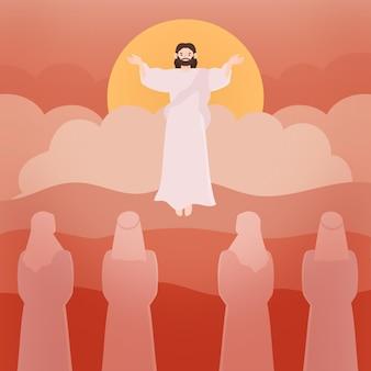 Hemelvaart heilige donderdag en volgelingen